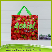 2017 new promotional china pp woven bag, pp woven shopping bag with lamination