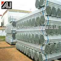 Guangzhou manufacturer hot dipped galvanized steel pipe