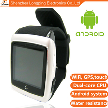 2015 Hot Selling high quality support SIM/TF android smart watch cellphone