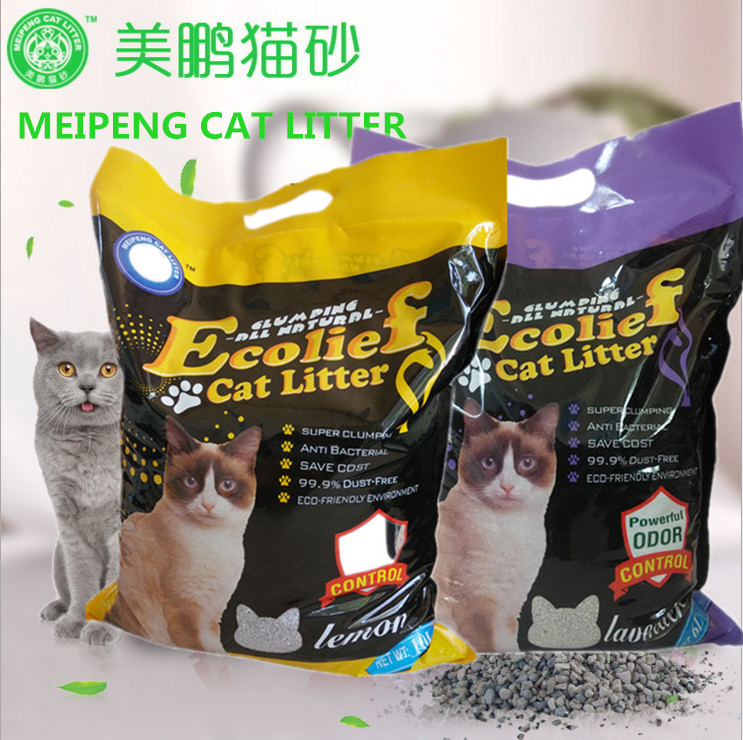 Ecolief brand bentonite cat litter wholesale pet supplies 6 different fragrance