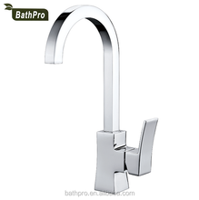 Thermostatic long neck kitchen faucet with one handle