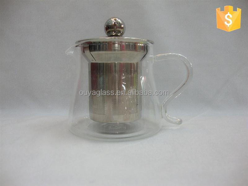 New design glass tea pot with candle coffee glass pot hot prodcuts with great price