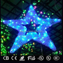 muti colors star shaped led decorative lights for Christmas/wedding/garden/yard/street decoration