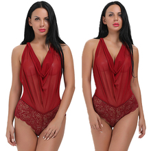 Newest Sexy Red Open Back adjustable straps Teddy Lingerie Online Shopping