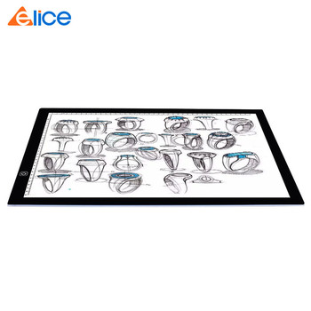 A3 LED Copyboard Dimmable Scale Drawing Tracing Projector Tracer Pad Portable Stencil Art Tattoo USB Ultra-thin LED Light Board