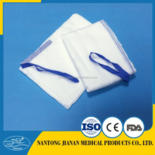 100% cotton gauze lap sponge , abdominal swabs , blue loop