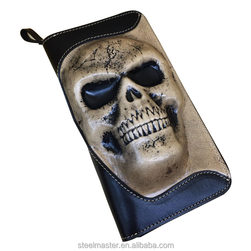 New style Skull design PU Leather Purse