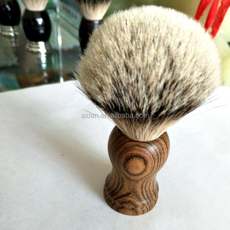 AIDEN--Classic wooden handle badger hair private label beard brush for men grooming