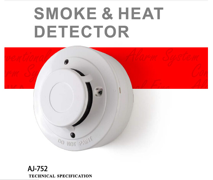 Conventional fire alarm system combined smoke and heat detector