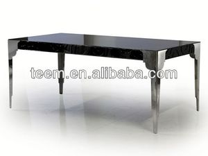 Neo-classical furniture natural wood slab dining tables LS-215