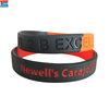 Custom made cheap promotional gift printed debossed silicone bracelet