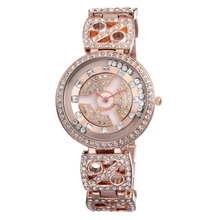 High quality rose gold watch WEIQIN W4755 japan movt diamond quartz watch