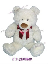 Valentines teddy bear with red ribbon promotional toy