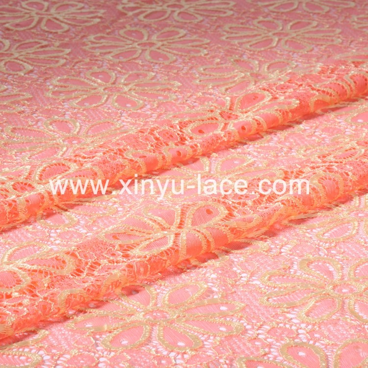 Fuzhou embroidered French lace, korean lace, embroidered fabrics lace