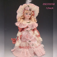 Hot wholesale lowest price 12inches victorian porcelain doll high quality