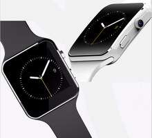 Low Cost Best Quality BT push Touch Screen GSM Hand Watch X6 Super Smart Watch Mobile Phone