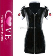 Sex Girls Photos Open Latex Rubber Leather Sexy Vampire Costume Dress Costume Cosplay For Halloween Carnival Costumes