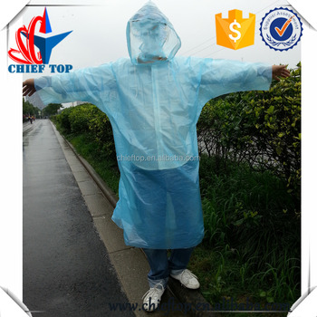 Promotional disposable raincoat for adult