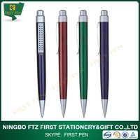 First Y168 Brass Metal Cute Advertising Ball Pen With Wide Clip