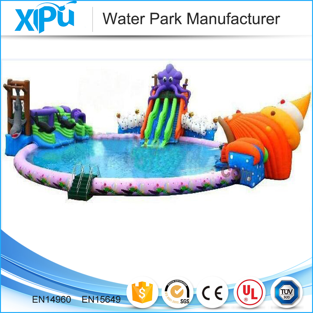 Seaworld style inflatable water park mobile amusement park rides