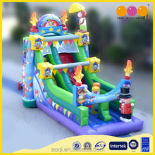 AOQI giant much fun hard-wearing quality festive circus inflatable slide for promotion