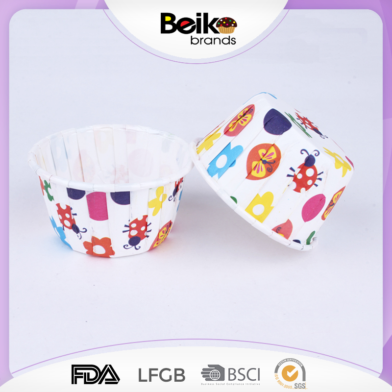 Paper Baking Molds,Heat Resistant Paper roll mouth Cup,Cupcake Wrapper
