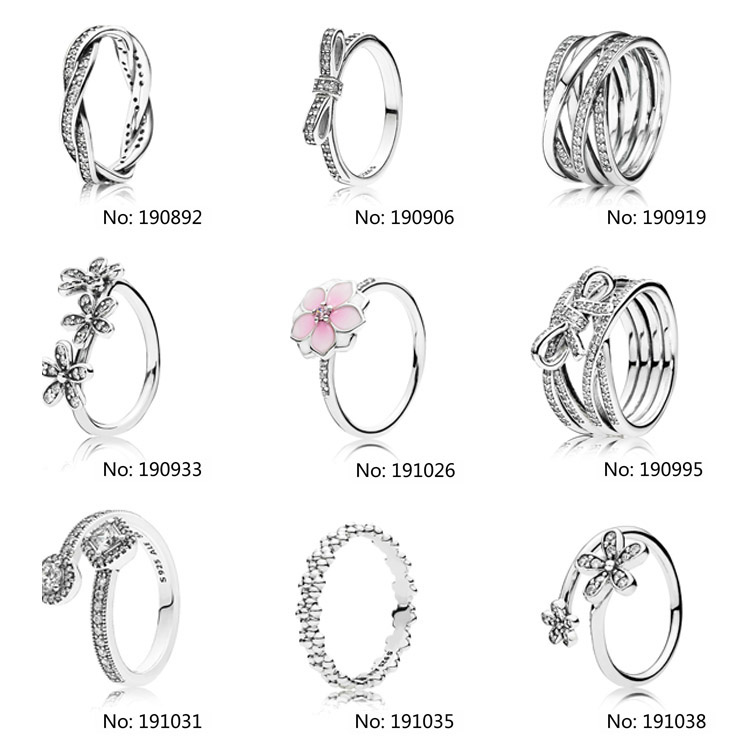 Factory Price charms fit pandoras Ring silver 925 diy bead wholesale