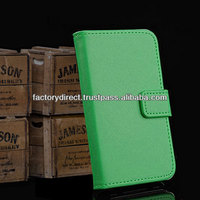New Leather Flip Case Cover Pouch Bumper Wallet for Samsung Galaxy S5 S 5 V i9600 Green Best Quality