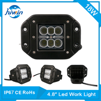 Hiwin 4.8inch 18w super bright led tractor working lights flood light led work light factory