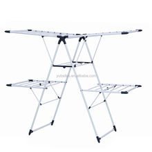 02-021A-1H wing style foldable clothes drying rack