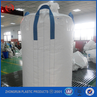 2015 New PP Big FIBC Bulk Container Jumbo Woven Bag Super Sacks Packing For Charcoal Rice Sand Asbestos Rubble 1 Ton ZR PLASTIC