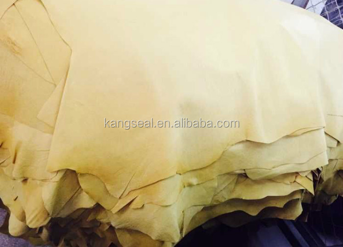 Beige color tanned pig grain leather for whole sale, pig leather, pig skin