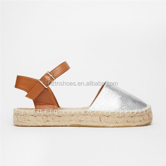 2016 New Summer Women's Sandals Jute Sole Espadrilles Casual Flat Espadrille Sandals