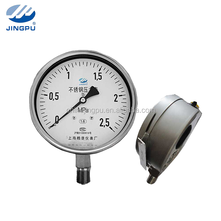 "2.5"" 4"" 6"" 10"" all stainless steel bourdon tube pressure gauge industrial gauges"