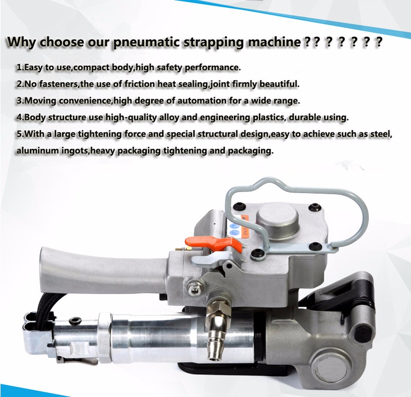 Low price Pneumatic PP and PET strapping tool,pneumatic baling press machine