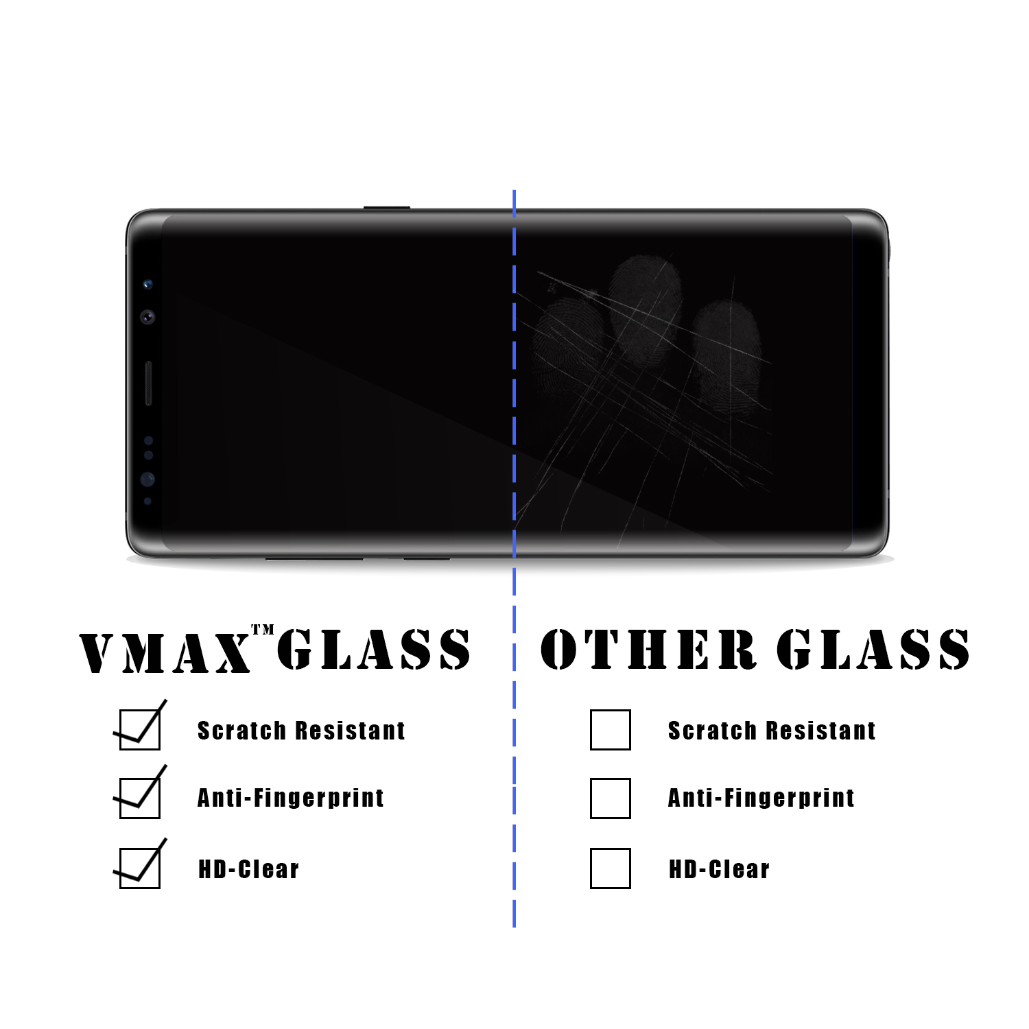 VMAX 2018 3D Curved Full Cover Hot sale Corning Tempered glass screen protector Professional for Samsung Galaxy S9 S9 Plus