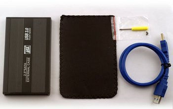 2.5'' portable usb 3.0 hdd case for 9.5mm hard drive hdd enclosure