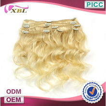 XBL Hot Sale Hair Style Best Quality Blond Clip In Hair Extensions