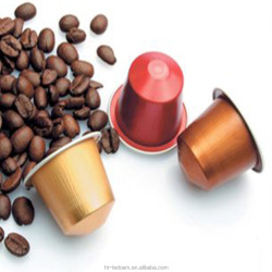 Customized Aluminium disposable coffee capsule