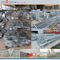 Hot dip galvanized steel structure