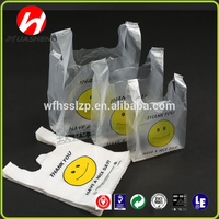 Wholesale Cheap Transparent Printed Plastic Shopping Bad with logo