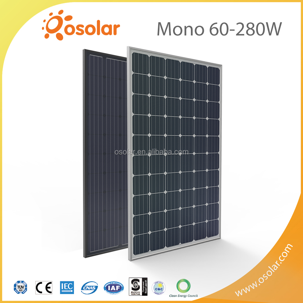 TUV CE Certified and CEC Listed 280w pv monocrystalline solar panel with best price