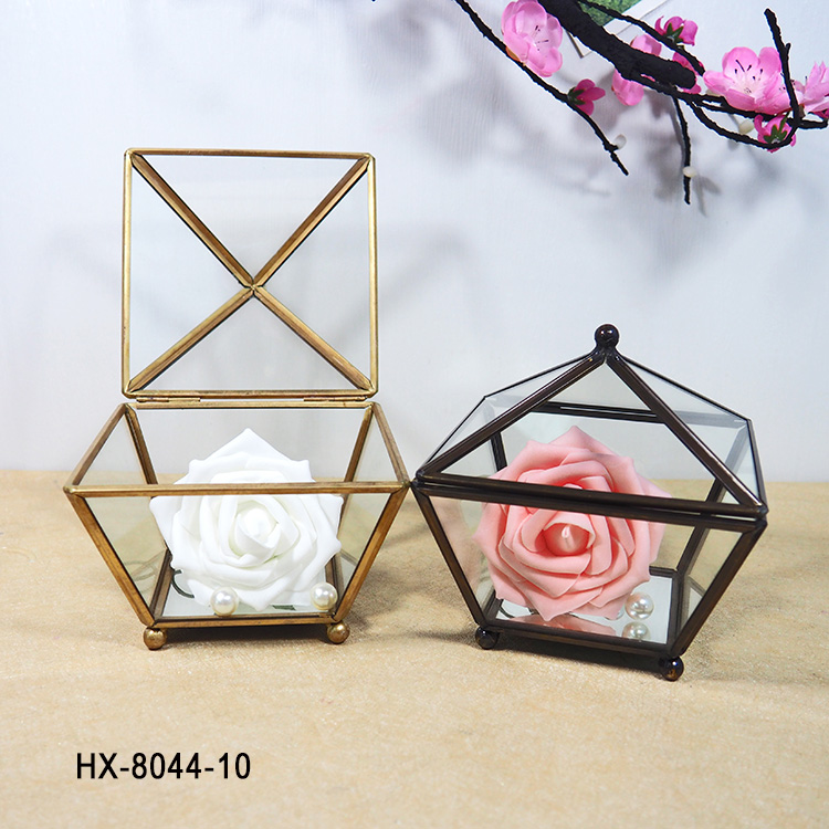 HX-8044 Glass Geometric Terrarium