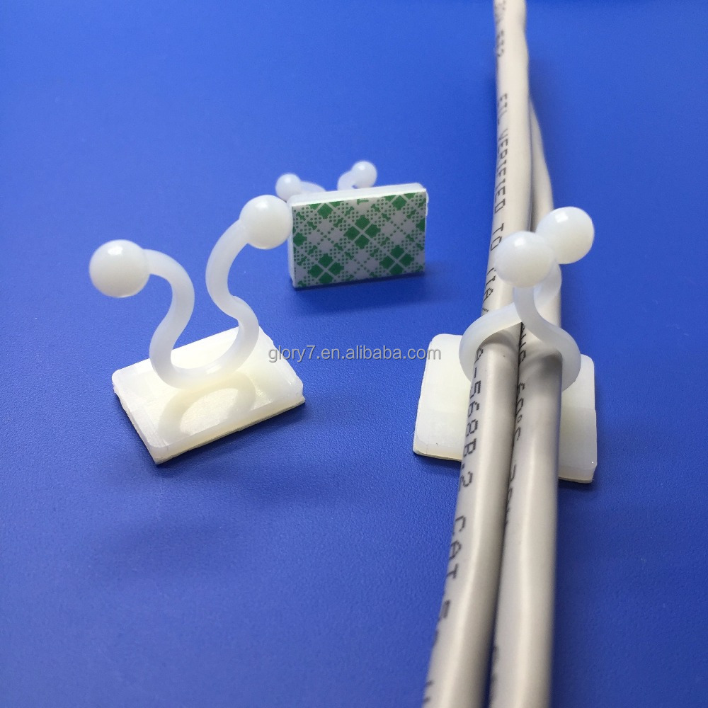 KL-1/2/3/5/6/7/8 twist wire clamp 3M self adhesive plastic Cable wire clip ties,interlocking clamp,twist wire ring/Ball clip