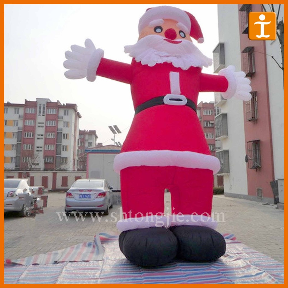 Santa Claus Inflatable Outdoor stand,banner stand