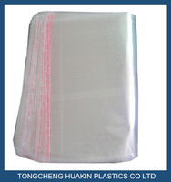 crystal opp cellophane bags with self adhesive tape clear packing bags