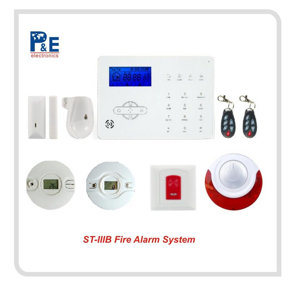 New Wirless 2017 White GSM PSTN Alarm Panel+Sensor+Remote Set Alarm System ST-IIIB