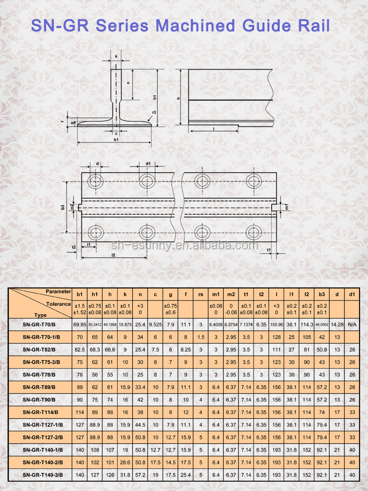 Excellent quality hot selling install elevator guide rail