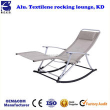 2017 Ningbo Hot sale rocking chair reclining modern chair used folding garden, beach camping outdoor chair