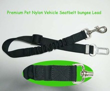Customized honden Pet reflective Nylon Vehicle Seatbelt bungee Lead with harness